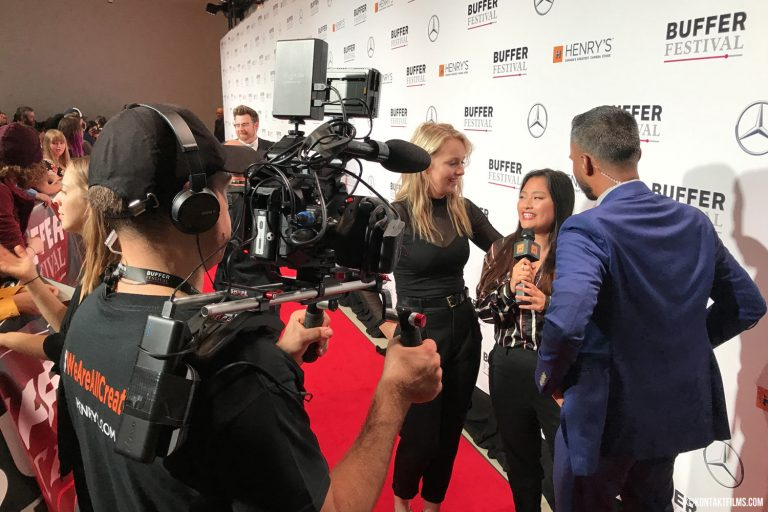 Henry's Camera – Going live to YouTube from the red carpet at the Buffer Festival with our host extraordinaire Gajan Balan at TIFF Lightbox | Kontakt Films