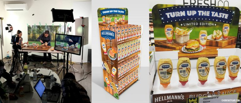 Hellmann's – From production in studio, to agency mockups, to final display in store, it's always great to see our work in the real world | Kontakt Films