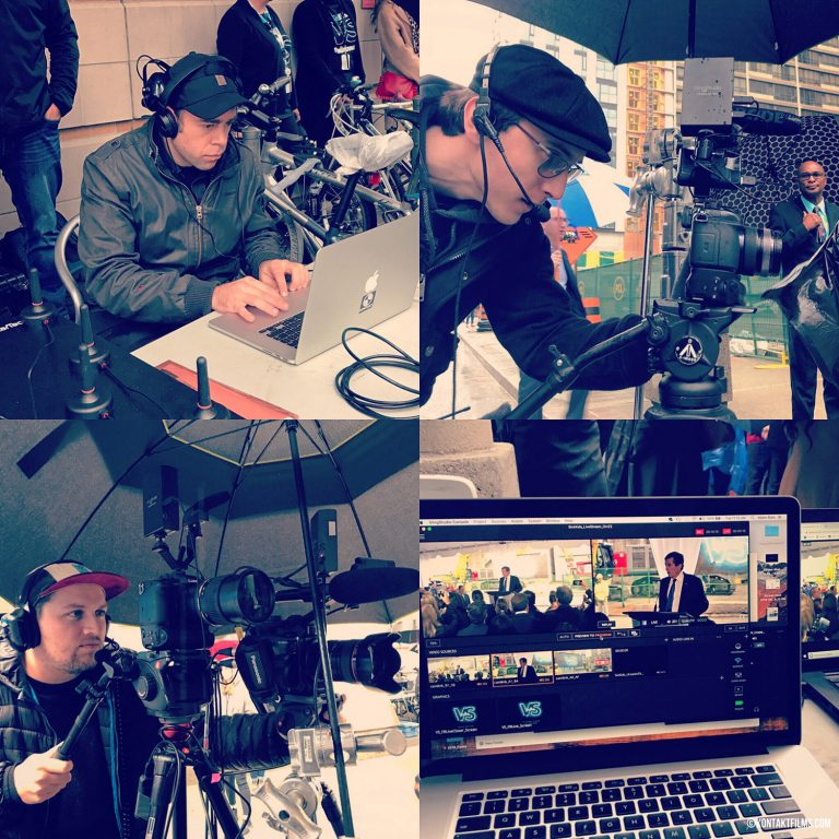 SickKids – The Kontakt Crew on set for the SickKids Groundbreaking Facebook Livestream at their new downtown location | Kontakt Films