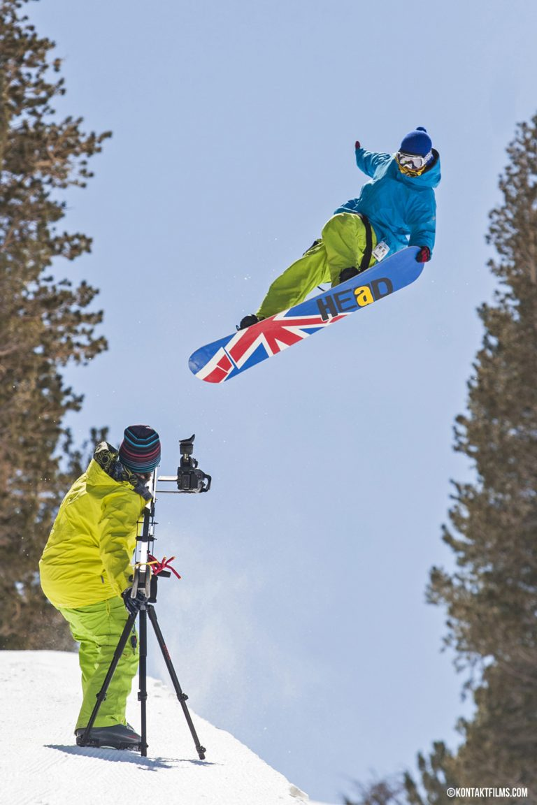 Quiksilver – Trevor Jennings boosts in the Mammoth Mountain half pipe while filming our web series for Quiksilver and West 49 in California | Kontakt Films