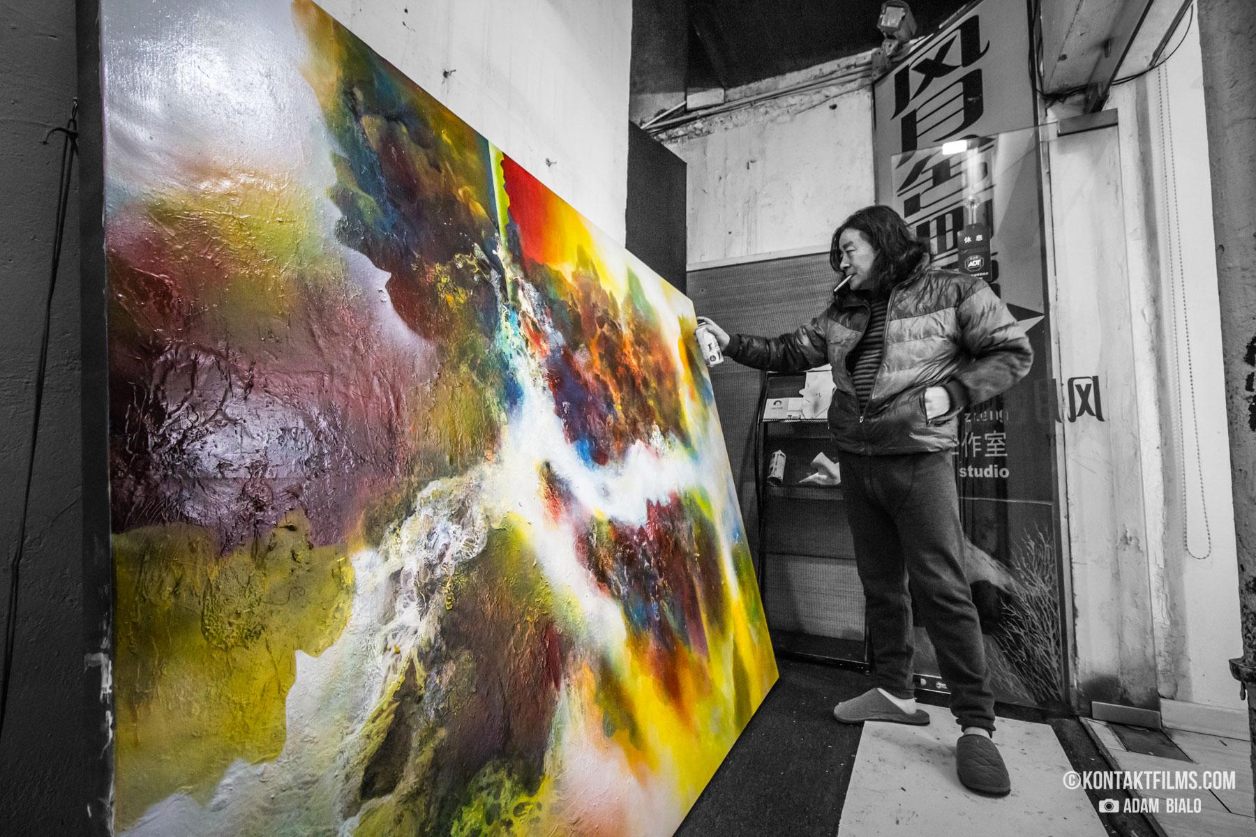 artist in ShangArt district shanghai china kontakt films adam bialo